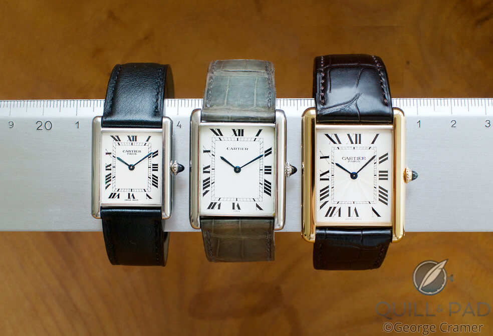 Cartier Tanks in three sizes: Classic, Jumbo and XL