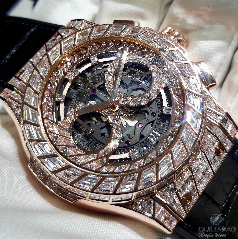Hublot Classic Fusion Aerofusion Chronograph High Jewellery in King Gold