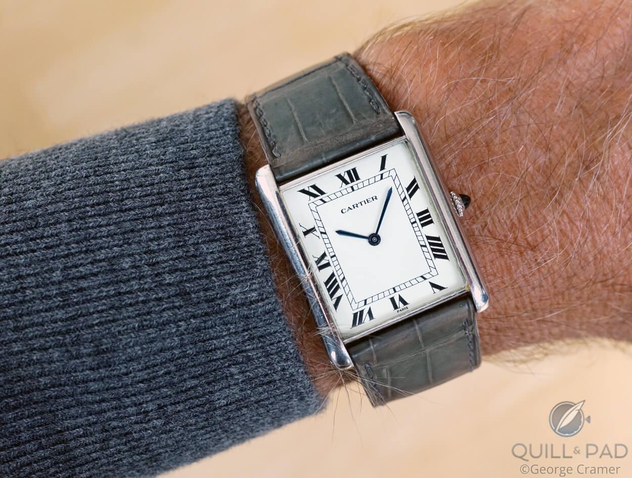 Louis Cartier Jumbo on the wrist