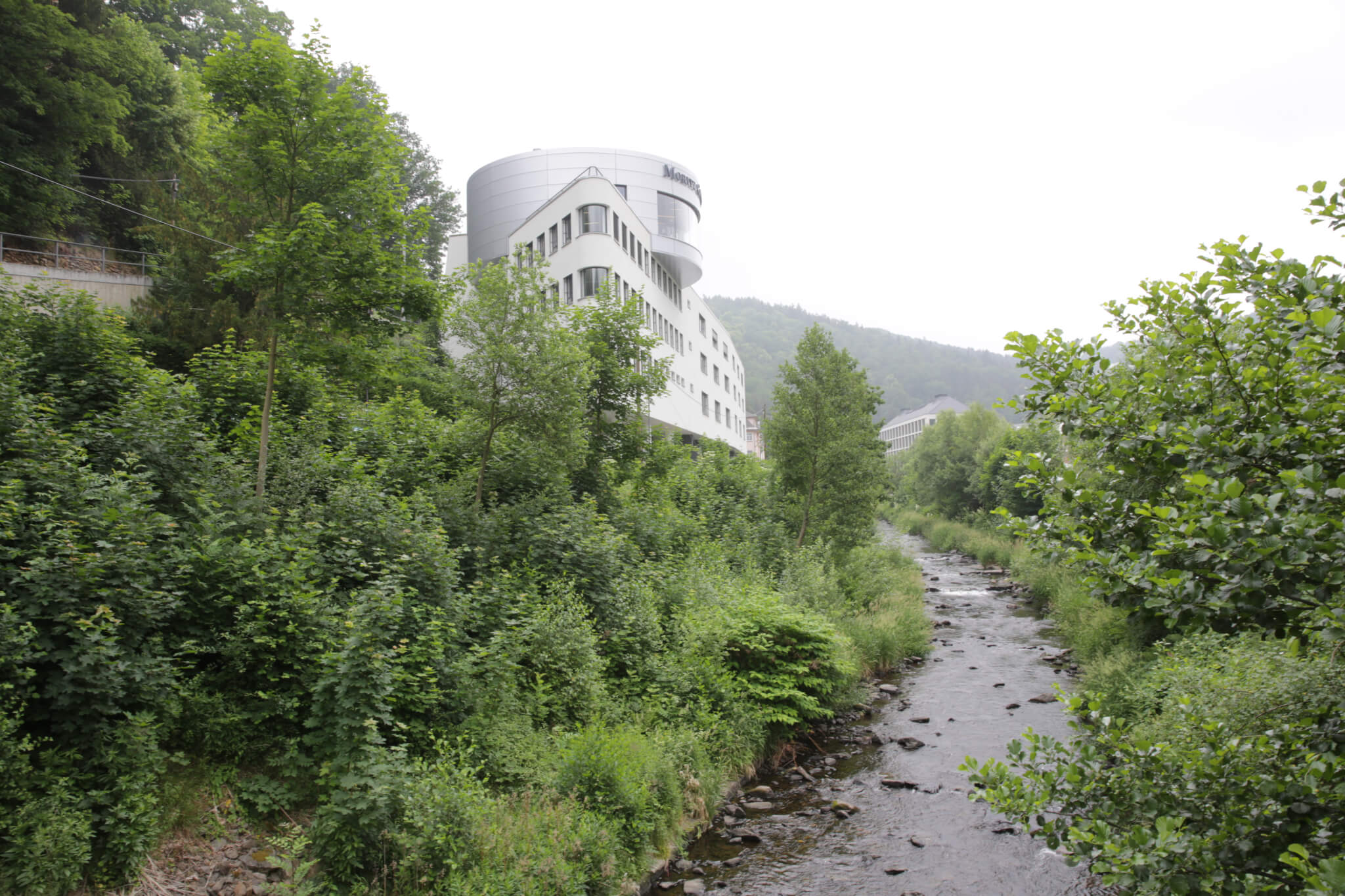 Moritz Grossman manufactory, overlooking the Moritz Grossman brook running through Glashütte