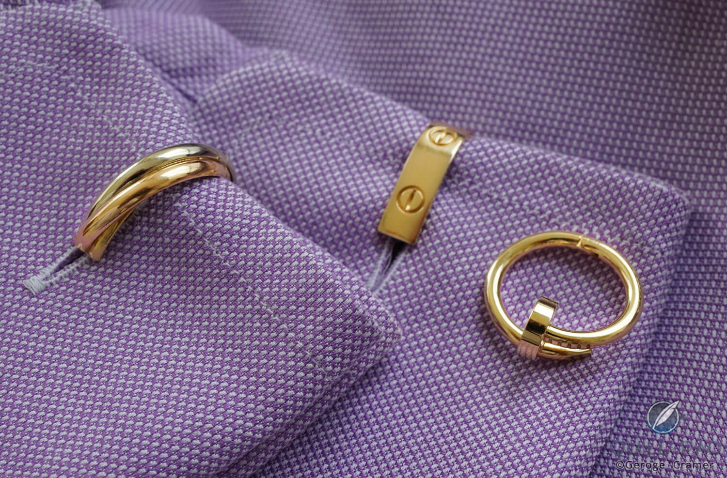 Cartier wrap around cufflinks