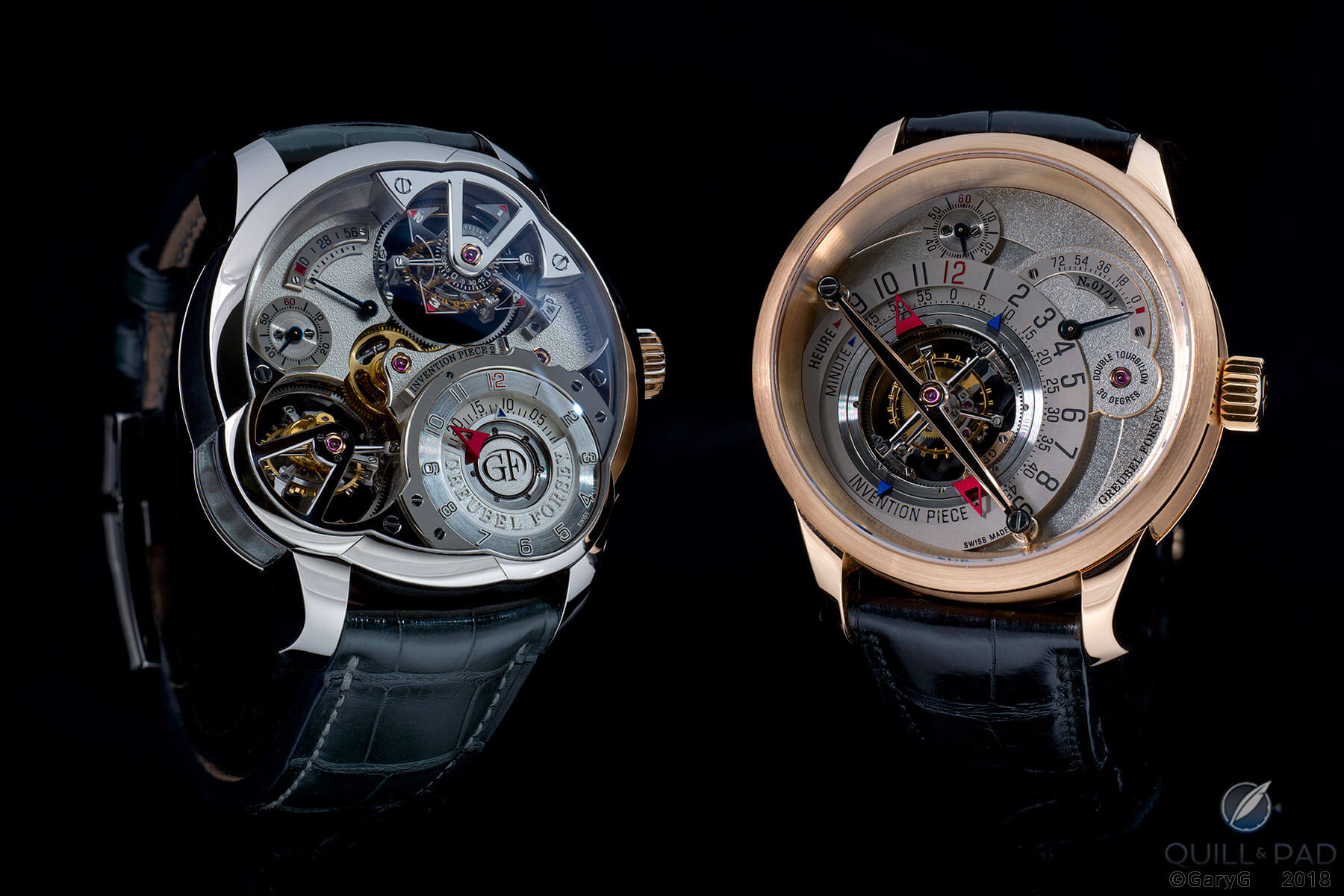Side by side: Invention Pieces 2 and 1 by Greubel Forsey