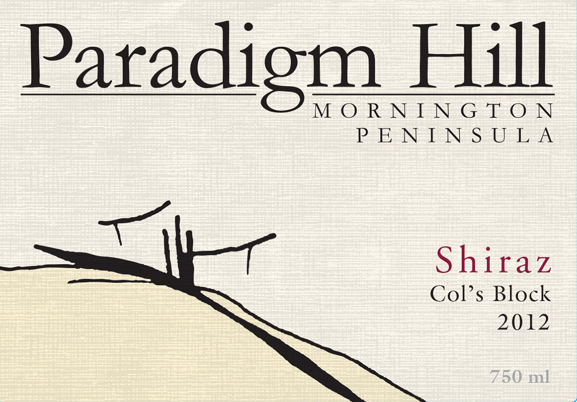 Paradigm Hill Shiraz 2012 label