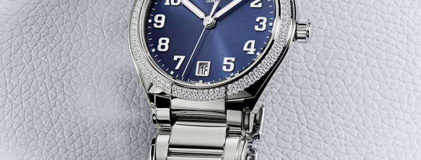 Patek Philippe Twenty-4 Automatic with blue dial in stainless steel