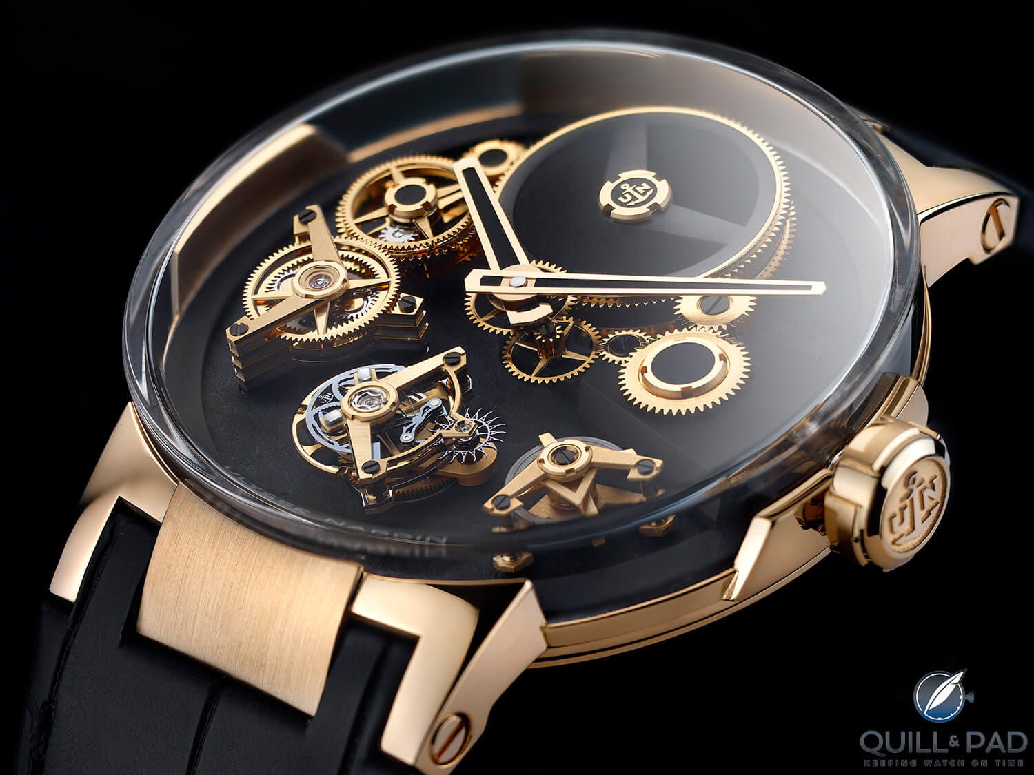 Ulysse Nardin Executive Tourbillon Free Wheel in gold