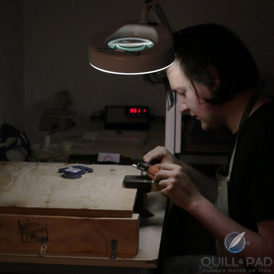 Jeweler/silversmith, Adam Henderson, was instrumental in the anOrdain enameling project