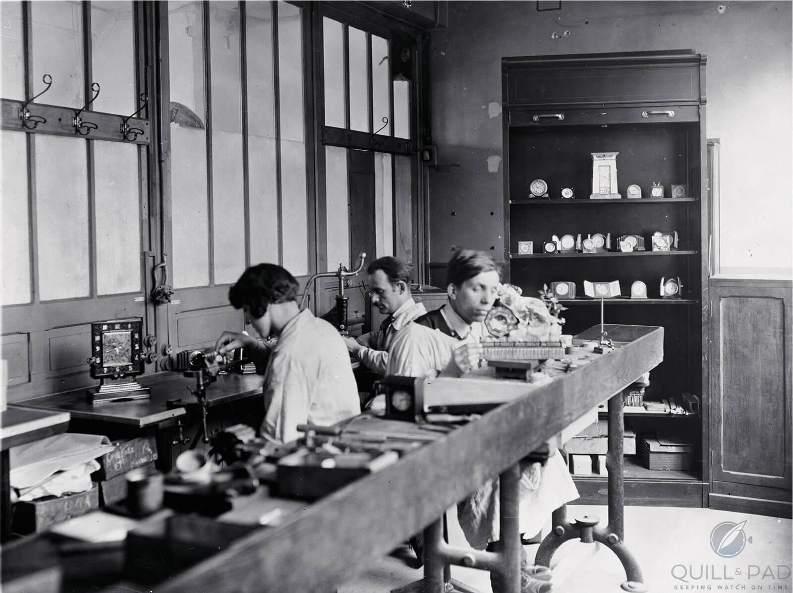 Cartier workshop at 53 rue Lafayette, Paris circa 1927 (photo courtesy Cartier archives)