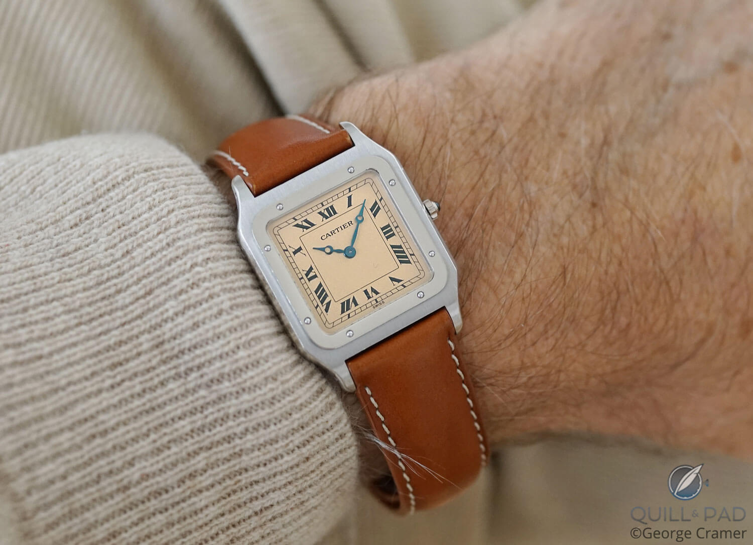 Cartier Santos-Dumont 90th Anniversary on the wrist