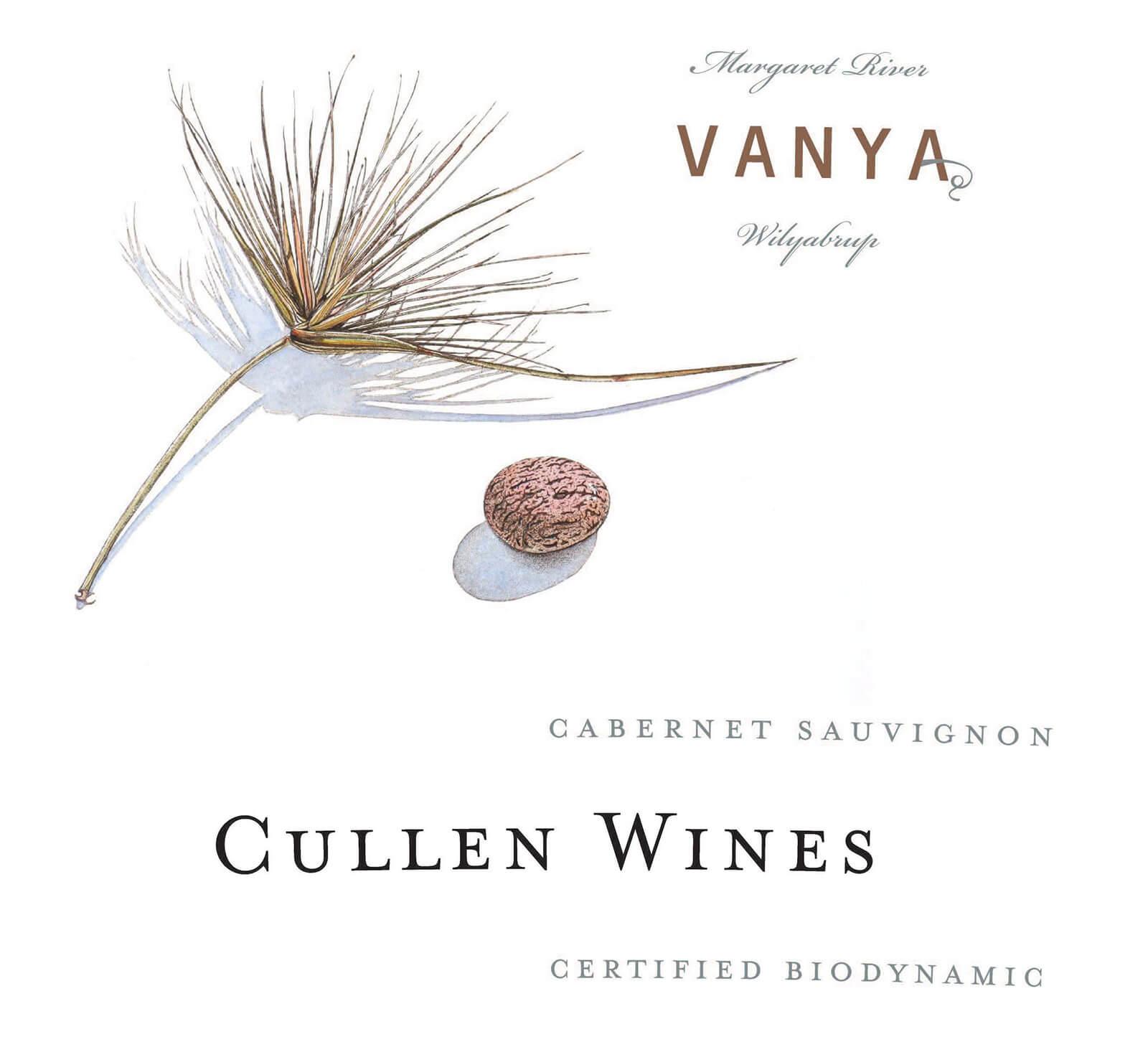Label of the Cullen Vanya Margaret River cabernet sauvignon