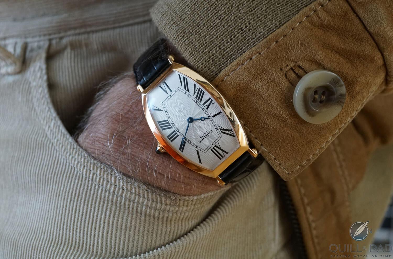 Cartier Tonneau on the wrist