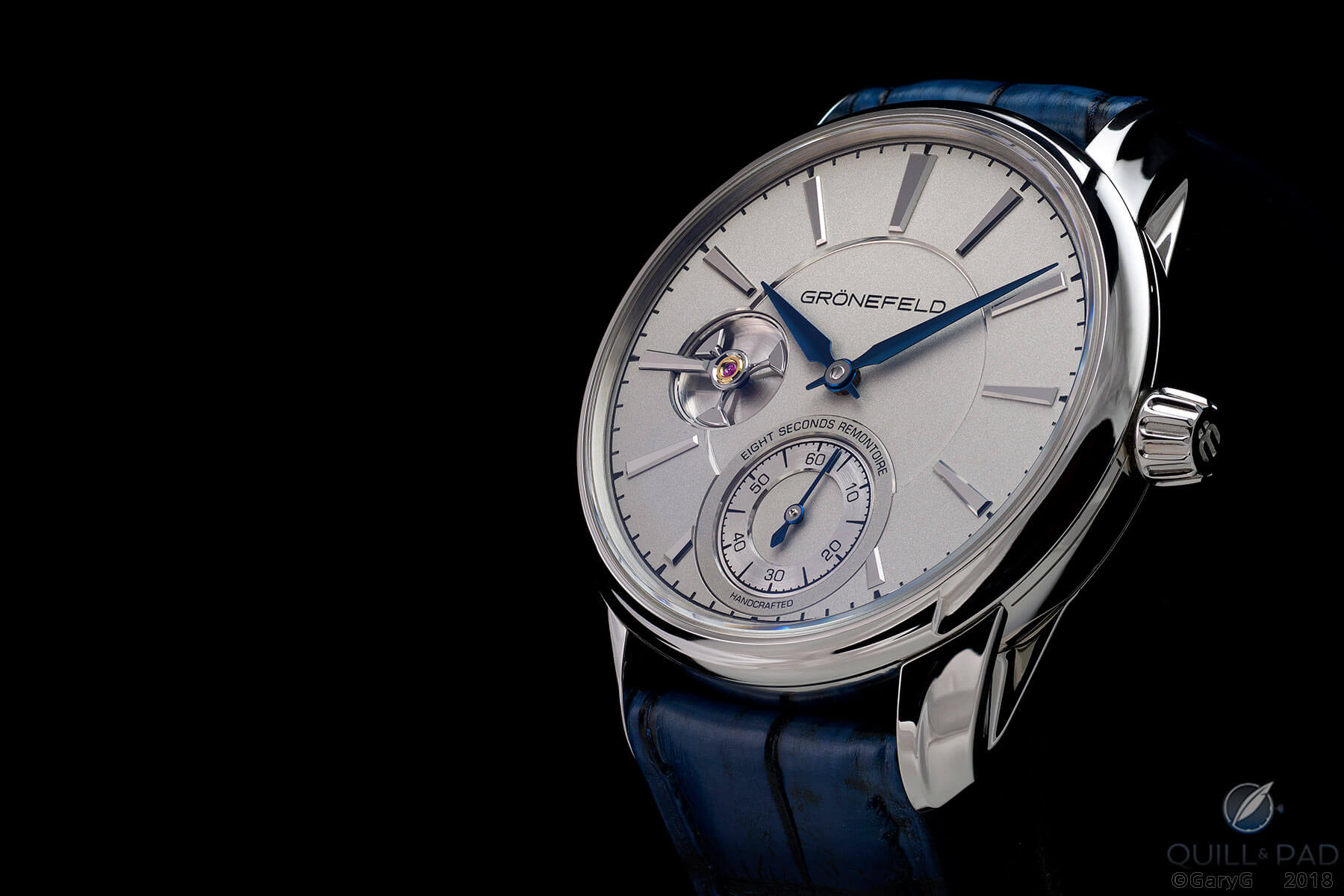 The Grönefeld 1941 Remontoire in stainless steel