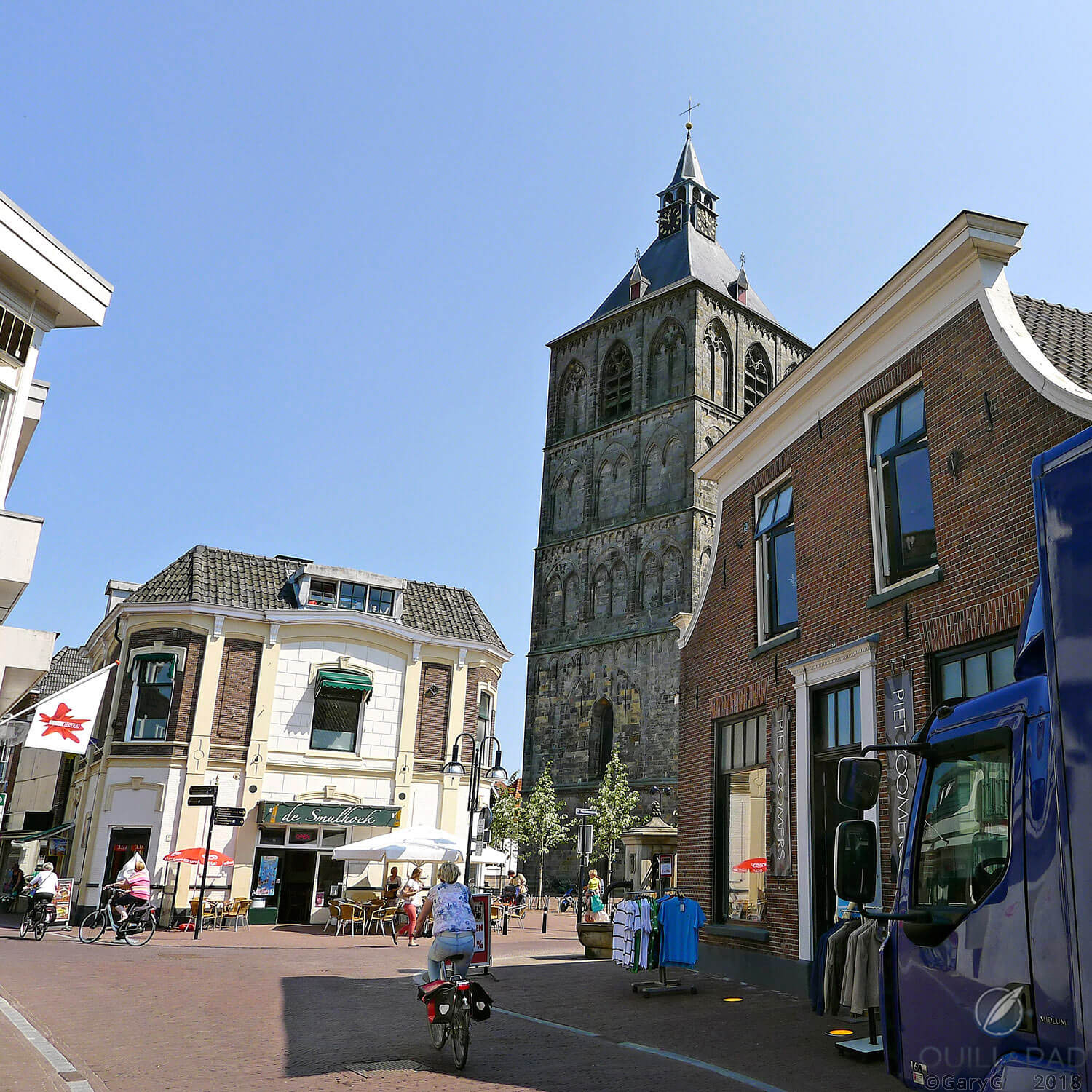 Oldenzaal, with the clock tower of the Basilica of St. Plechelm at center