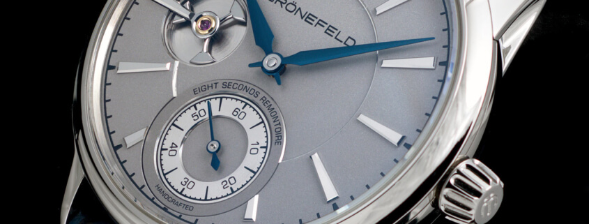 The OG: the author's Grönefeld 1941 Remontoire with silver dial