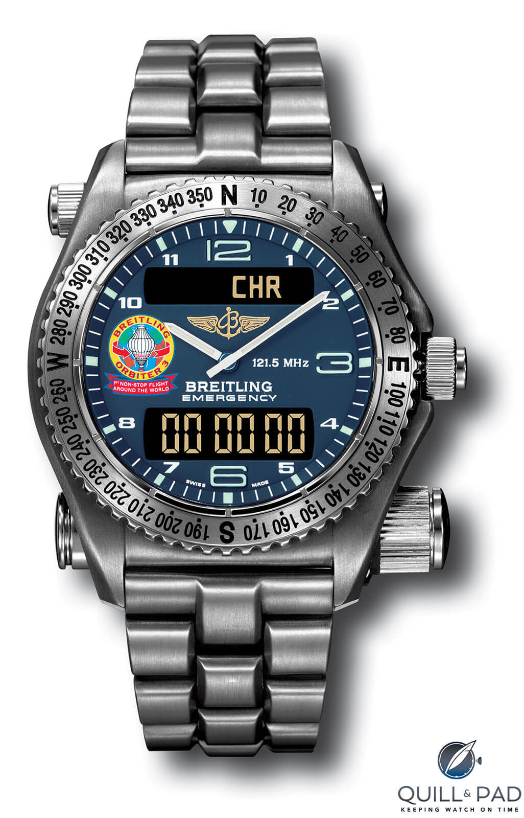Breitling Orbiter Emergency limited edition wristwatch in titanium