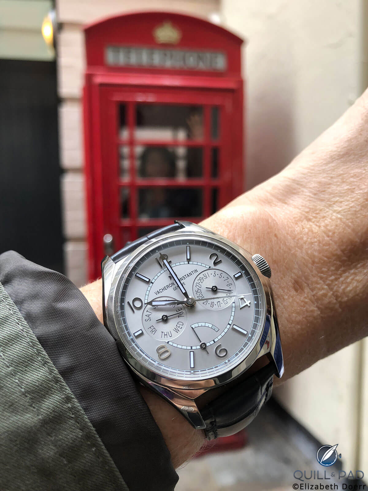 Vacheron Constantin FiftySix Complete Calendar on the wrist in London