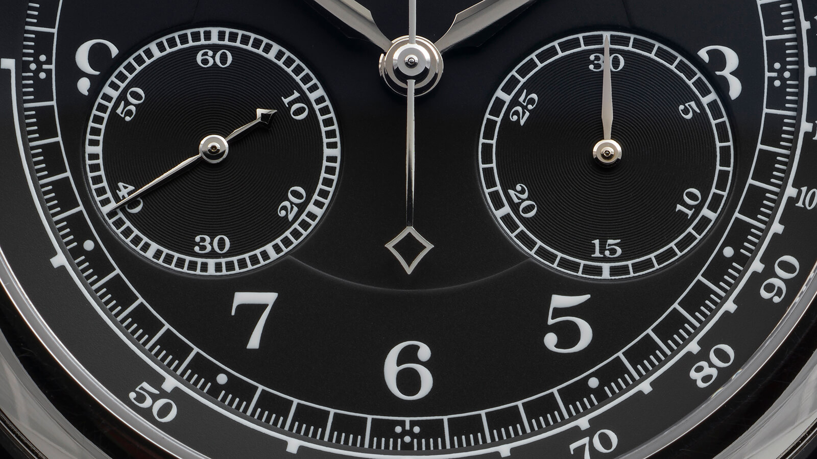 Feeling groovy: dial detail, A. Lange & Söhne 1815 Chronograph