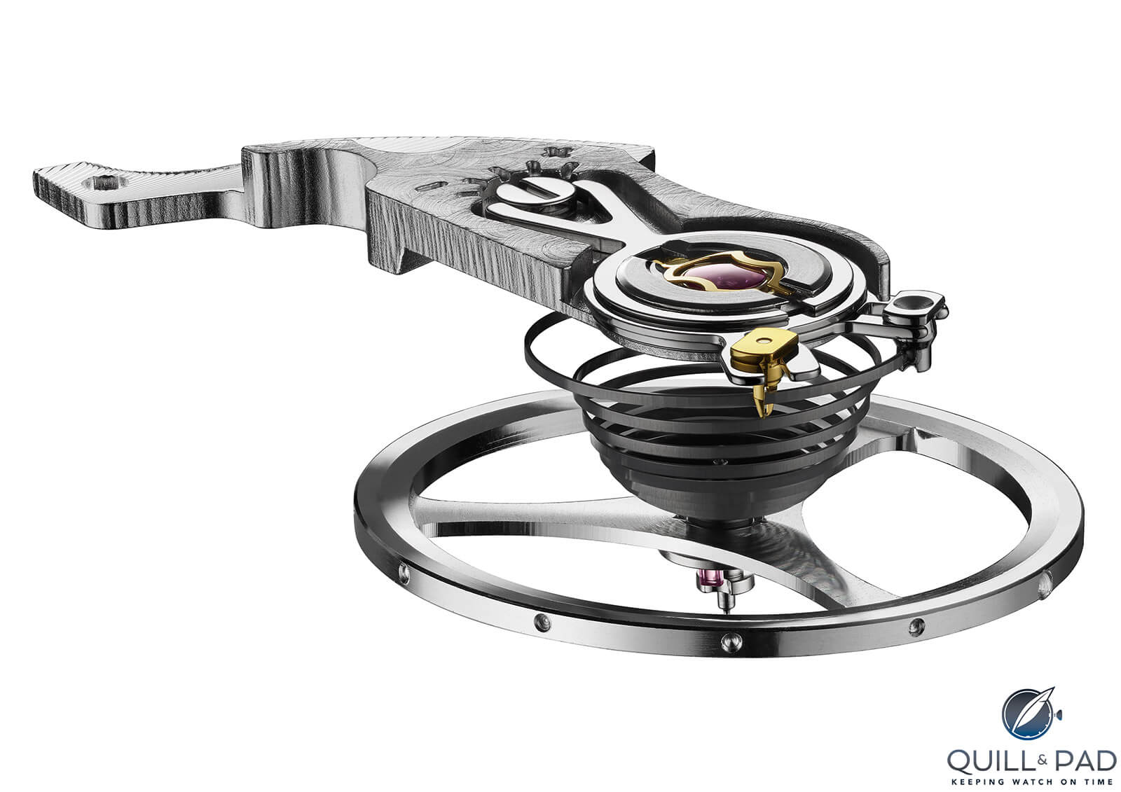 Isograph carbon-composite hairspring beats inside the TAG Heuer Autavia